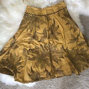Embroidered Sunflower Skirt
